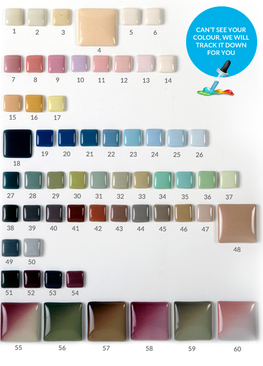 Our selection of bathroom colours